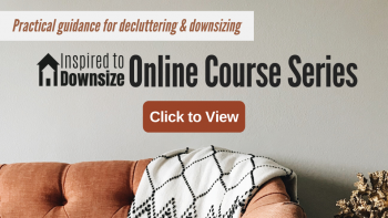 Ad for downsizing course series